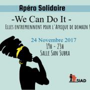 Apéro Solidaire – We Can Do It – Elles entreprennent pour l'Afrique de demain !