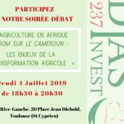 Soirée-débat : «L'Agriculture en Afrique – Zoom sur le Cameroun : les enjeux de la transformation agricole»