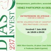 Soirée-débat : «L'entrepreneuriat en Afrique – Zoom sur le Cameroun : entre valorisation et adaptation des pratiques locales».