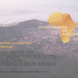 Découvrez notre plateforme dédiée à l'entrepreneuriat en Afrique !